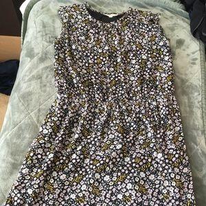 LOFT Black Floral Dress